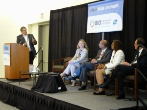 "Panelists speak at ""Regenerative Medicine: Propelling a Paradigm Shift in Medicine and Healthcare Delivery"""