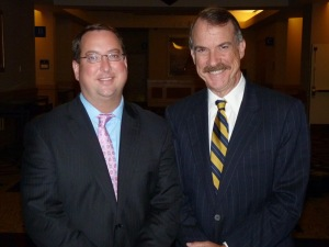Stem cell agency President C. Randal Mills (left) and Chair of the Board Jonathan Thomas