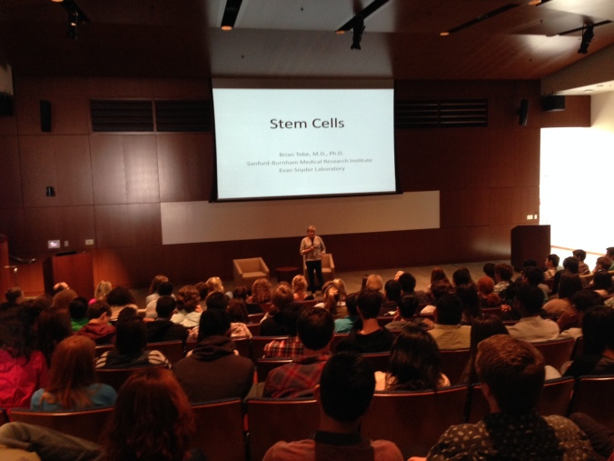 Last year's Stem Cell Day event at the Sanford Consortium in San Diego drew a full house.