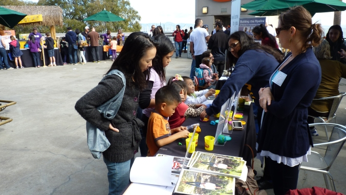 The stem cell agency booth at Discovery Days at AT&T Park