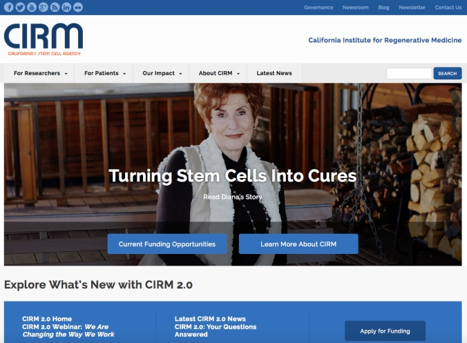 CIRM Homepage