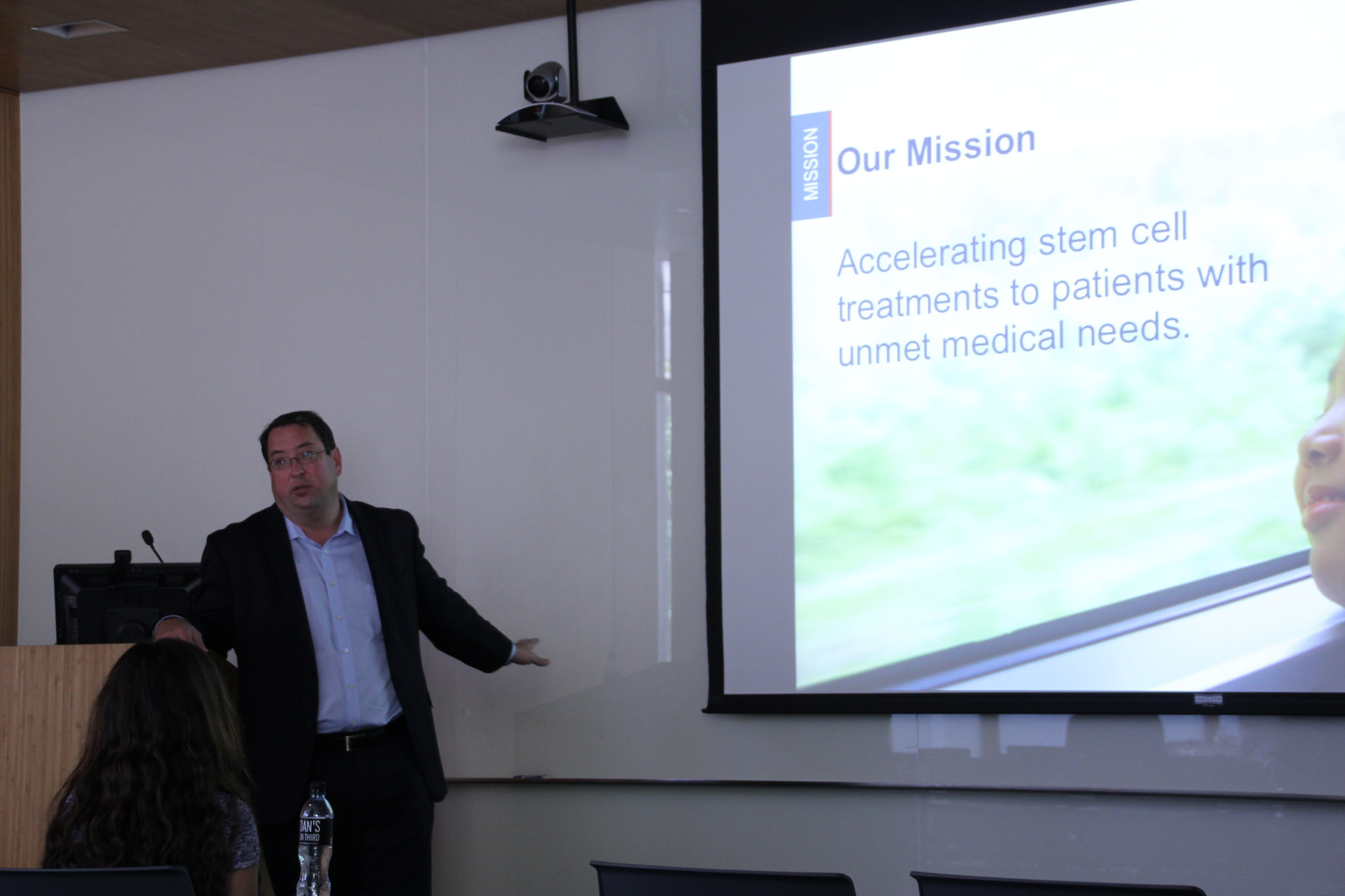 Dr. C. Randal Mills talking to Patient Advocates in LA: Photo courtesy Cristy Lytal, USC