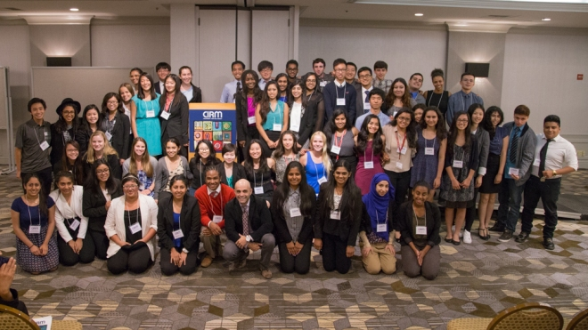 Creativity students 2015 with program director Dr. Mani Vessal (front & center with tie)