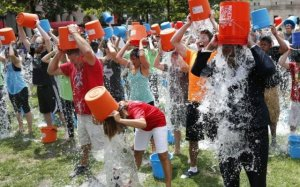The Ice Bucket Challenge launched by the ALS Association is raising awareness and funds for ALS research.