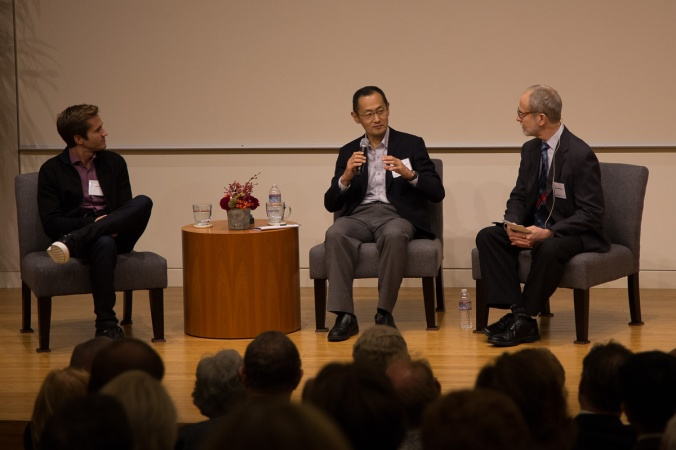 Blake Byers, Shinya Yamanaka, and Sandy Williams take questions from the audience.