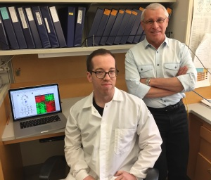 UCLA scientists Bryan Smith and Owen Witte. (Image credit: UCLA Broad Stem Cell Research Center)