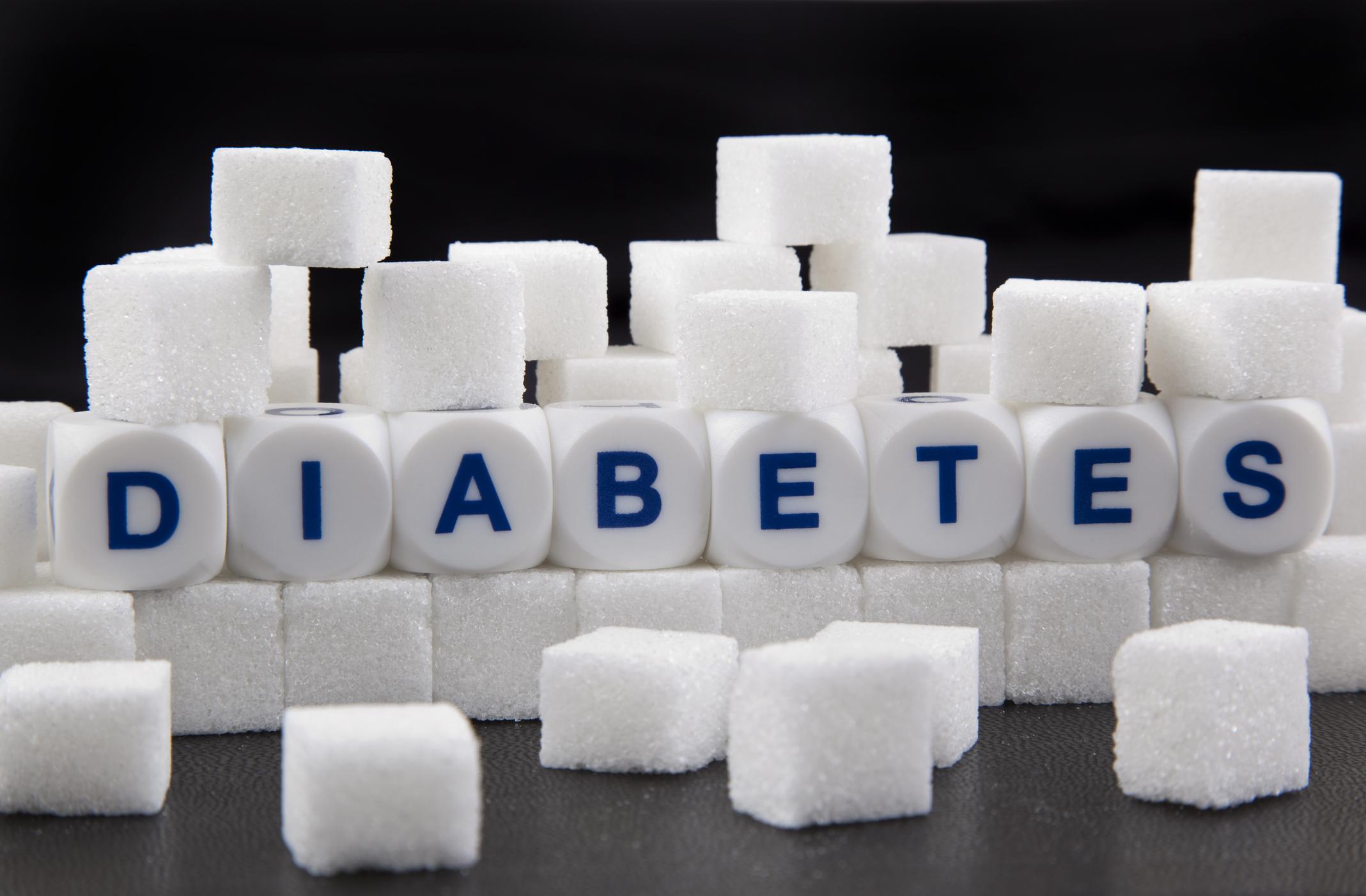 Erwachsener am Set Diabetes