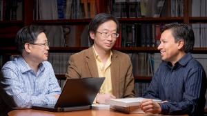 Gladstone Investigators Yadong Huang, Sheng Ding, and Deepak Srivastava.