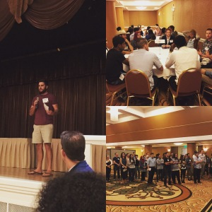 Bridges students participated in a networking pitch event about stem cell research.