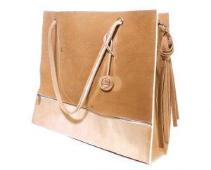 A prototype bag, made with pig skin, from Tina Gorjanc's Pure Human collection (Credit: Tina Gorjanc)