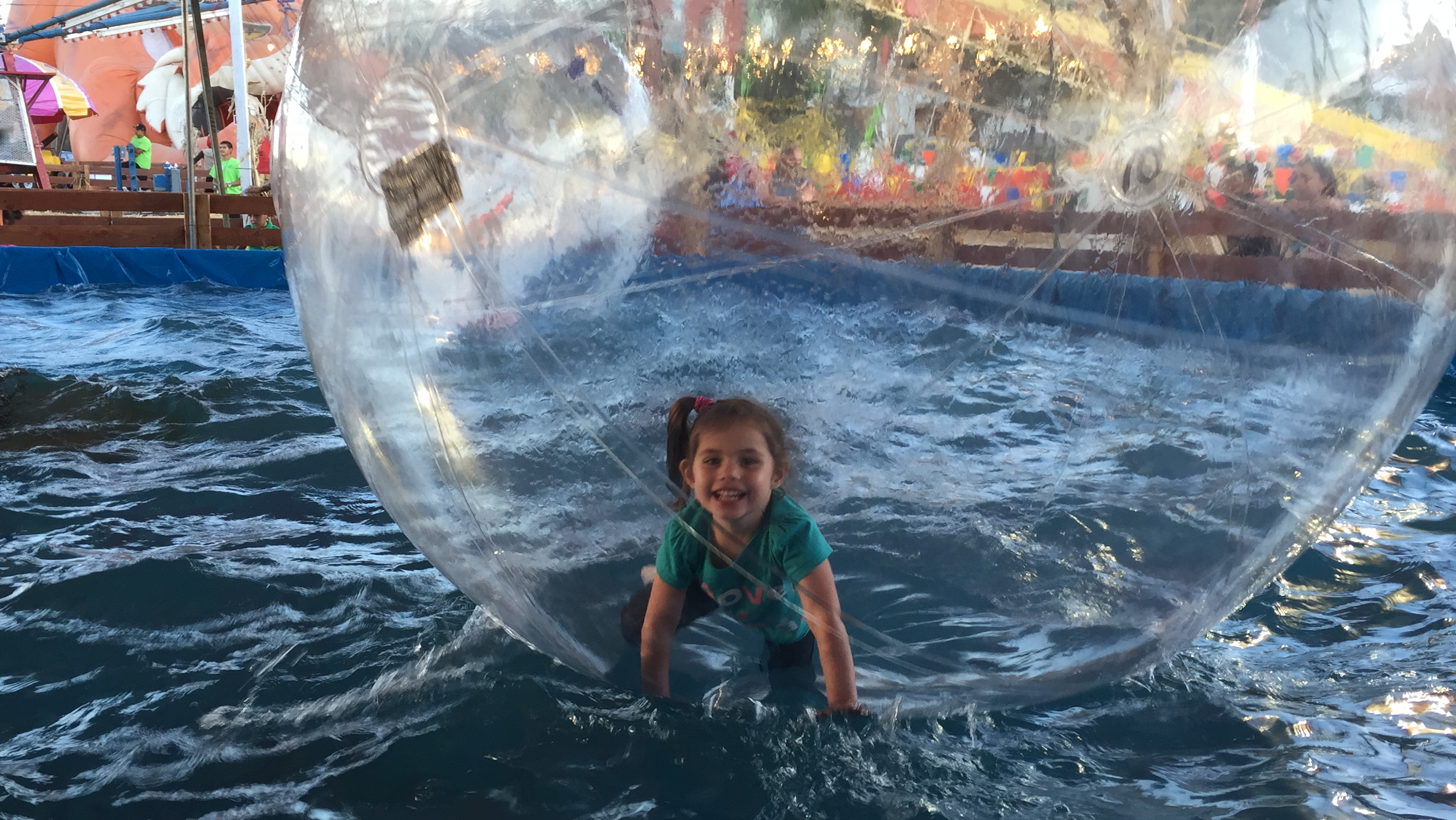 evangelina in a bubble