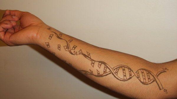 Broken-DNA-Science-Tattoo-On-Arm-Sleeve-By-Sansanana